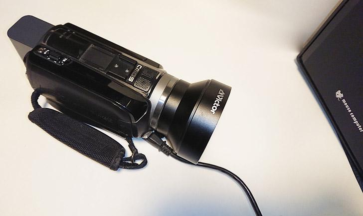 ビデオカメラとパソコンをUSBケーブルでつなぐ