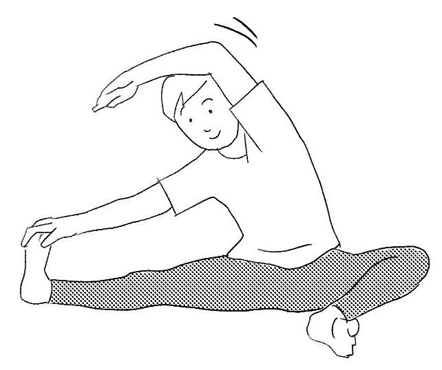 腰痛ストレッチ1