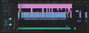 4K動画を編集時のタイムライン