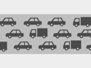 道路に車が沢山走っているイメージ