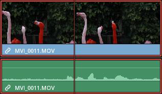 映像データと音声データがリンクされたクリップ