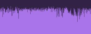 オーディオビットレートが低い波形の画像