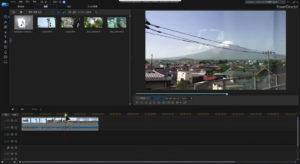 PowerDirector 編集画面のイメージ