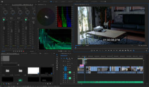 Premiere Pro 編集画面のイメージ
