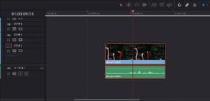 映像データと音声データのリンクが切れたクリップ